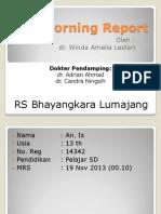 Morning Report Rs BAYANGKARA