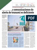 Sistema de Comunicaciones de Alerta de Tsunami Es Deficiente