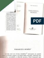 Sorin Alexandrescu - Paradoxul Roman (Cap. 1)