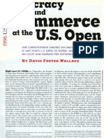 David Foster Wallace 1996 Us Open