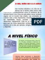 DESARROLLO DEL NIÑO DE 6 A 9 AÑOS