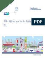 IGM Habitos y Actitudes Hacia La Television 2011