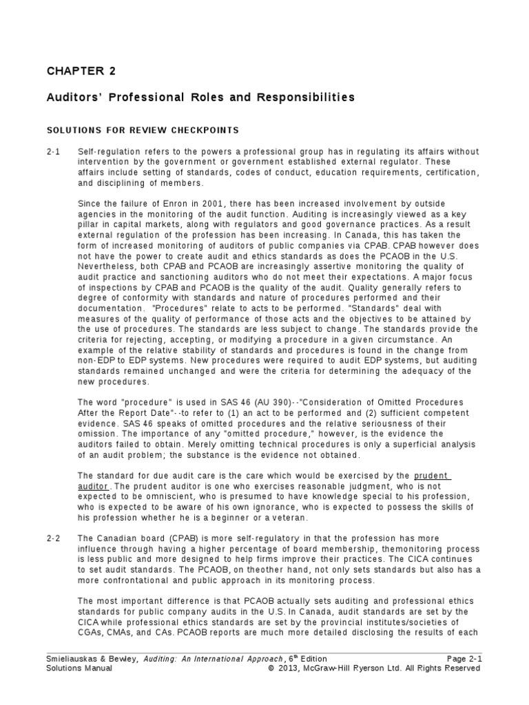 Smieliauskas 6e Solutions Manual Chapter 02 Financial Audit