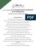 Lehrersprache Im Deutschunterricht (Deutsch Als Fremdsprache)