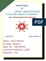 Transmission Through High Voltage Direct Current