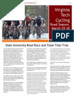 VT Cycling Newsletter Duke