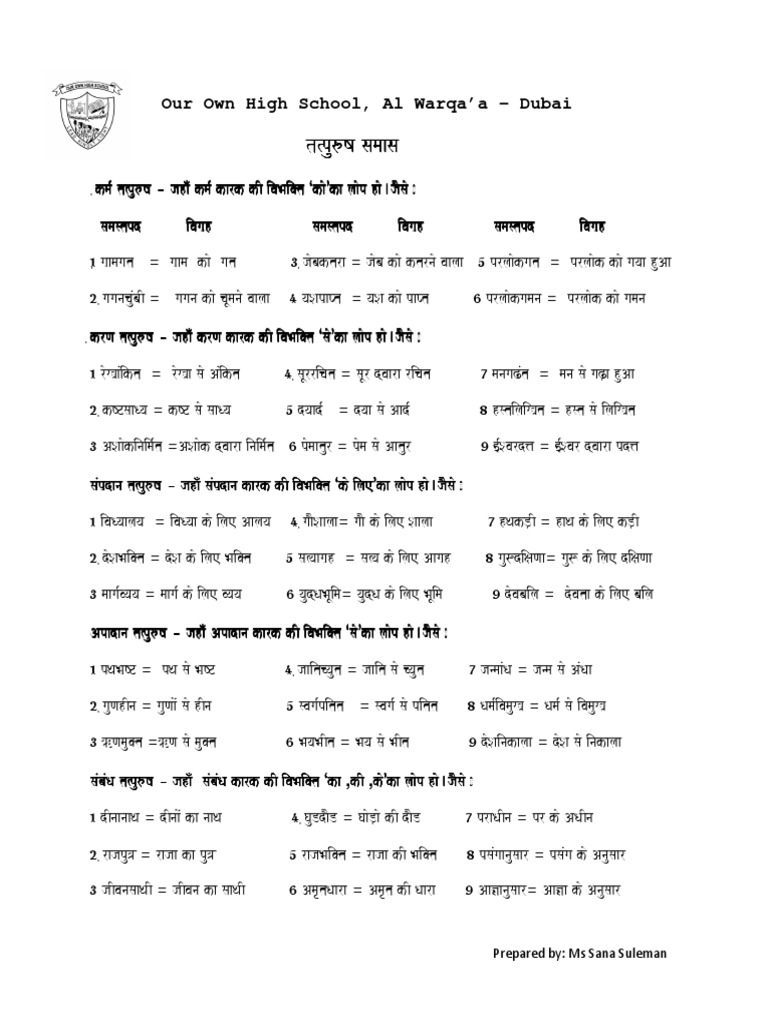 3 FREE DOWNLOAD HINDI GRAMMAR SANGYA WORKSHEETS FOR CLASS 2, 2 ...