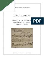 Telemann Trio Italien TWV 42:G12 Score
