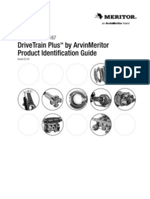 Product Identification Guide Meritor | Transmission