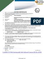 Cordex TC7000 Infrarerd Camera ATEX Certificate