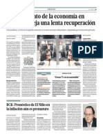 Crecimiento de economía en febrero es lenta_El Comercio 3-04-2014