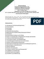 B2F Rahmenordnungen