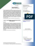 Rodrigues, 2013_Qualidade, Sustentabilidade e Responsabilidade Social Corporativa