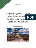 Gendun Gyatso Resumen de Los Puntos Esenciales Del Libro de Los Kadam.