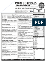 2014 Game Notes 4-3 at Chattanooga