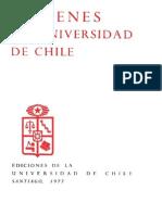 Imágenes de la Universidad de Chile. 1977