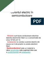 Curentul electric în semiconductoare