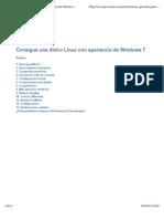 Tunea Linux Como Windows7