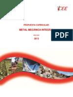10propuesta Curricular Metalmecanica Integral