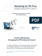 Content Marketing for PR