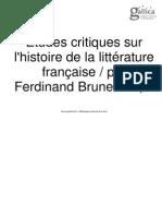 Etudes critiques sur l'histoire de la littérature française. 6
