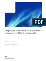 Employees  Motivation – A Key for the 