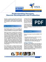Understanding Vaccines, Vaccine Development and Production