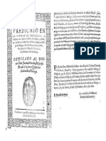 Semón dedicado al Dean de la Catedral de Málaga Juan Moscoso - 1616