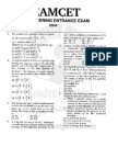 Eamcet 2004 Engineering Paper