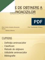 Metode de obţinere a aminoacizilor