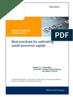11 Best Practices for Estimating Credit Economic Capital