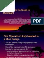 2 Using Topographic Map Data in MineSight 2012