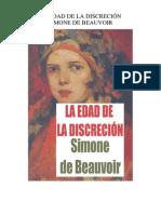 La edad de la discreción - Simone de Beauvoir _