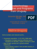 Nanotechnology Capacities and Programs From Uruguay