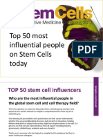 Top 50 Global Stem Cell Influencers