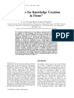 Strategies for Knowledge Creation in Firms