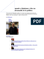 1 de diciembre de 2013 Andrade responde a Quintana y dice no creer en lo intransable de la política.docx