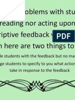 Two actions to support use of feedback
