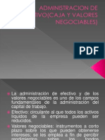 Administracion de Efectivo(Caja y Valores Negociables)
