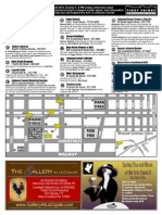 First Friday art walk map 4/14