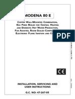 Modena 80 E Manual