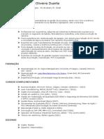 CV de Bruno Duarte 2013 Rj