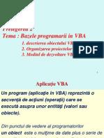 VBA Prel_2 Introducere