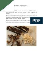 Empresa Chocoquin Tarea 1