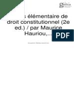 Précis élémentaire de droit constitutionnel (2e ed.) par Maurice Hauriou