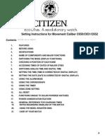 Citizen Instruction Manual C652