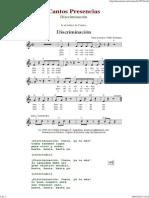 Discriminacion - Cantos de Presencias de Musica