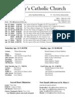 Bulletin for April 6, 2014