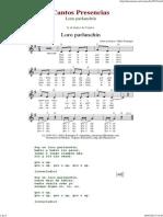 Loro Parlanchin - Cantos de Presencias de Musica