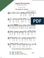 Me Duele La Cabeza - Cantos de Presencias de Musica